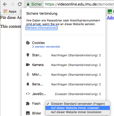 Flash in Chrome aktivieren