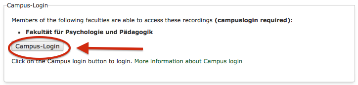 How Does The Campus Login Work When Accessing A Lecture Video Online